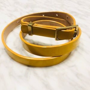 Yellow Patent Leather  J. Crew Belt